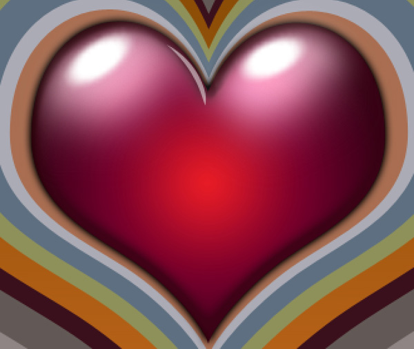 Create a colorful background for Valentine's Day in Adobe Photoshop CS4