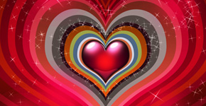 Create colorful background for Valentine's Day
