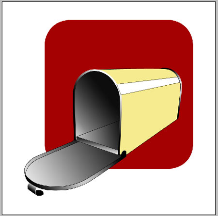 Create Vector illustration of a yellow mailbox in Photoshop CS
