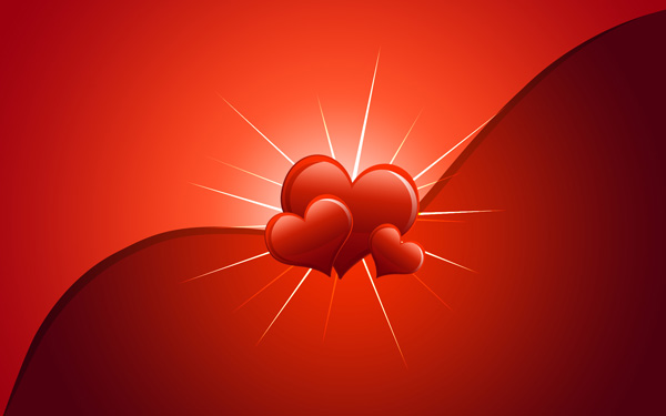 Design a romantic Valentine's Day card from scratch in Photoshop CS4