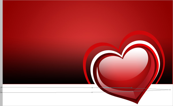 How to create waved Valentine background with hearts in Adobe  Photoshop CS4