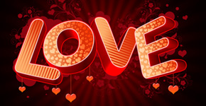How to create 3D Love text composition