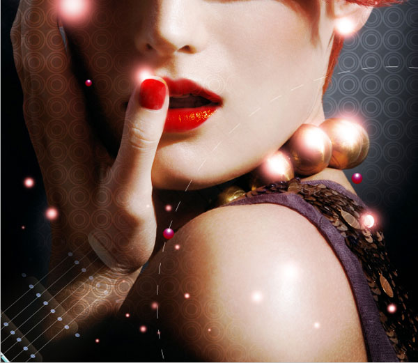 How to create a glamour style composition using patterns and masks in Adobe Photoshop CS4