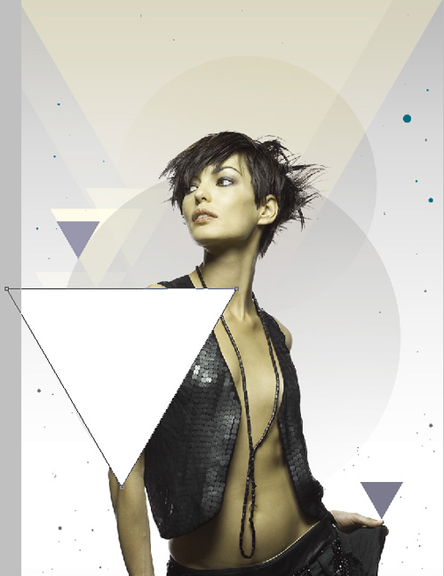 Blending fashion image with Photoshop CS5 custom shapes