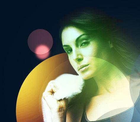 Абстрактное свечение для девушки в Photoshop - Часть 2