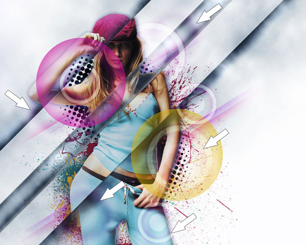 Design a Stylish Poster mixed with displacement effect in Adobe Photoshop CS5
