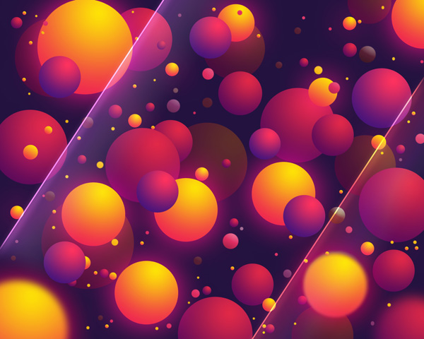Create Abstract Colorful Balls illustration in Photoshop CS5