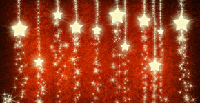 How to create Christmas background with snowflakes and stars in Photoshop CS5