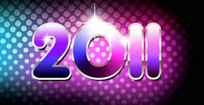 How to create a New Year 2011 colorful card in Photoshop CS5