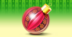 How to create elegant Christmas postcard with ornamented ball in Photoshop CS5