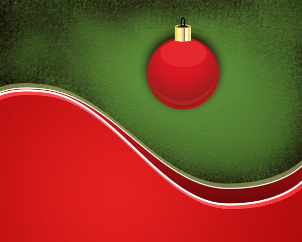 How to create holiday card with Christmas balls on the abstract background in Adobe Photoshop CS5