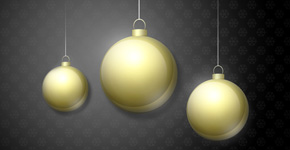 How to create stylized greeting card with Christmas baubles in Photoshop CS5