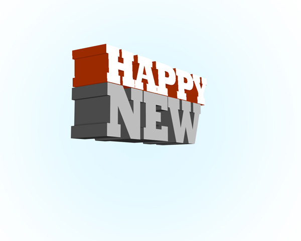 How to create abstract new year illustration with 3D typography using Adobe Photoshop CS5
