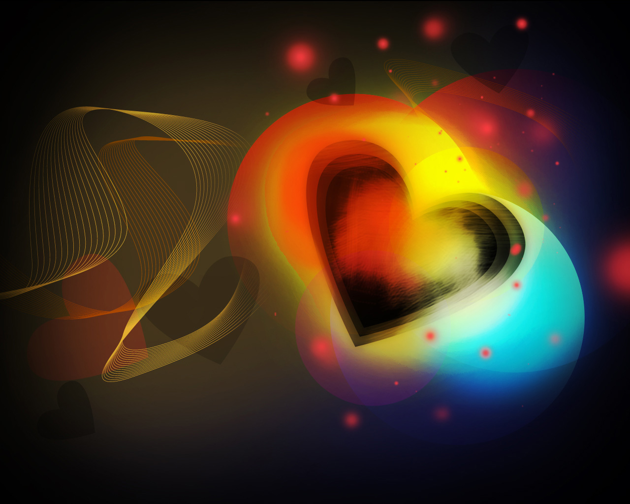 How to create colorful valentines day card with shining heart in download baditri Images