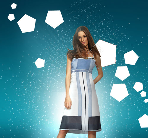 Combine model shot and vectors to create a stunning photomontage in Photoshop CS5
