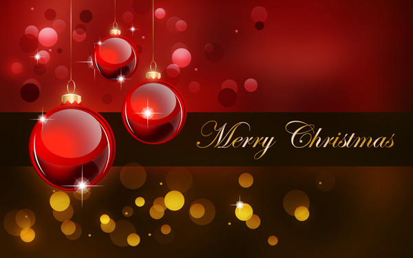 Create A Stunning Merry Christmas Background With Red Baubles For