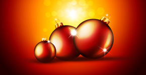 How to Create a Christmas card with Red Glowing Baubles in Photoshop CS5