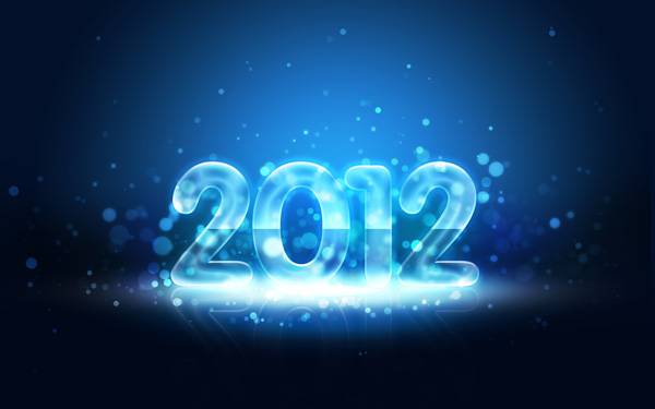 How to create an Impressive Greeting card with Neon New Year 2012 text in Photoshop CS5