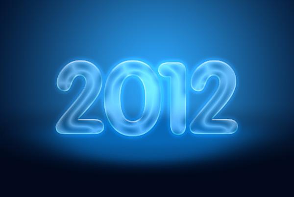 20 Criar um cartão de Ano novo 2012 | Photoshop CS5