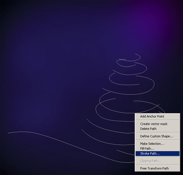 Create an Amazing Greeting Card with Abstract Christmas Tree in Photoshop CS5
