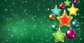 How to Create Christmas Greeting Card with colorful stars and baubles in Photoshop CS5