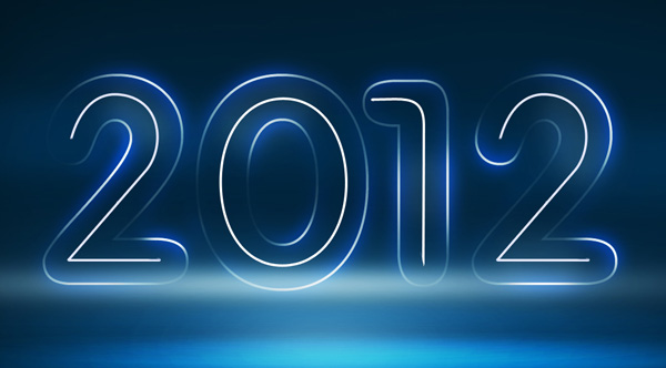 How to create Neon Illustration Happy New Year 2012 in Photoshop CS5