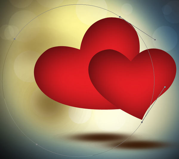 How to create Abstract Colorful Valentine's Day Card with Beautiful shiny hearts in Photoshop CS5