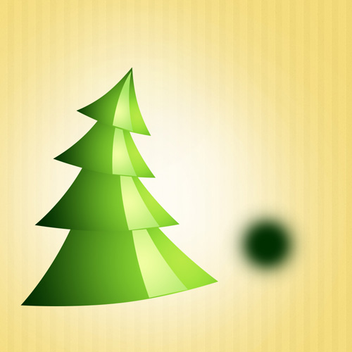 How to Create Colorful Christmas Background with Christmas Tree and Glossy Balls in Adobe Photoshop CS6
