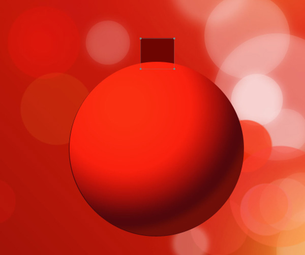 How to create Elegant Greeting Card with Stylish Christmas Ball hanging on Red Background in Adobe Photoshop CS6
