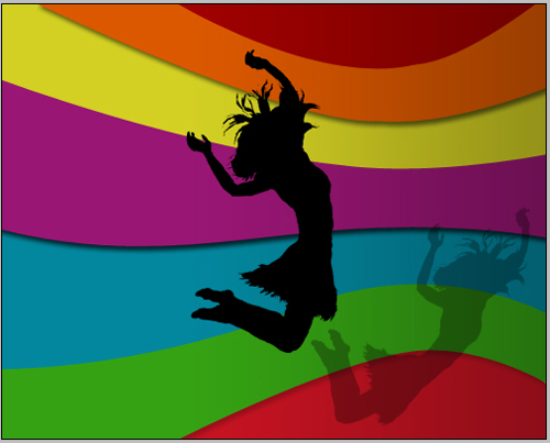 create a rainbow girl illustration in photoshop cs