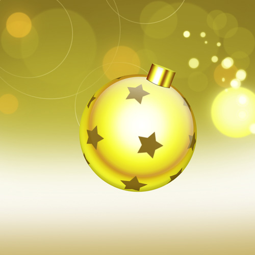 How to Create Happy New Year Greeting Card with Xmas balls on Snowflakes Background in Photoshop CS6