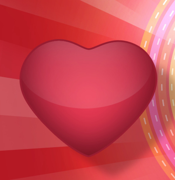 How to Create Greeting Card for Valentine's Day with Cute Glossy Hearts in Adobe Photoshop CS6