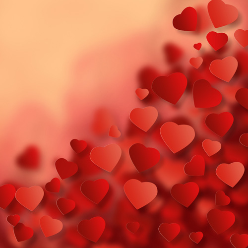 How to create Amazing Valentine s Day Background with Abstract Hearts in Adobe Photoshop cS6 ...