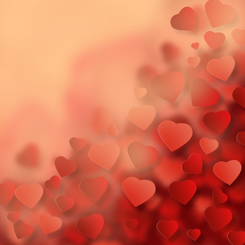 ... Background with Abstract Hearts in Adobe Photoshop CS6 | Photoshop
