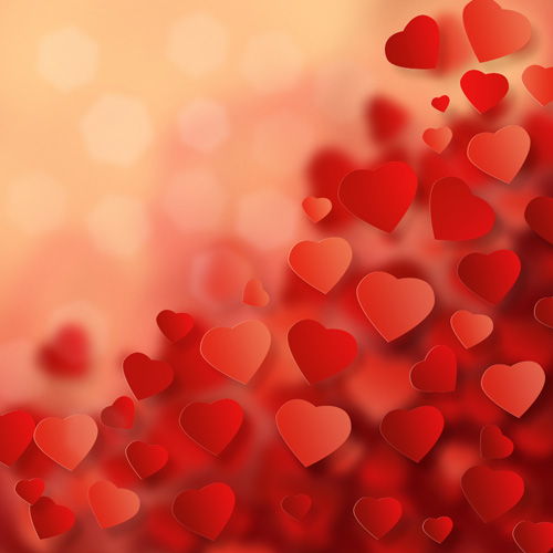 ... Background with Abstract Hearts in Adobe Photoshop CS6   Photoshop