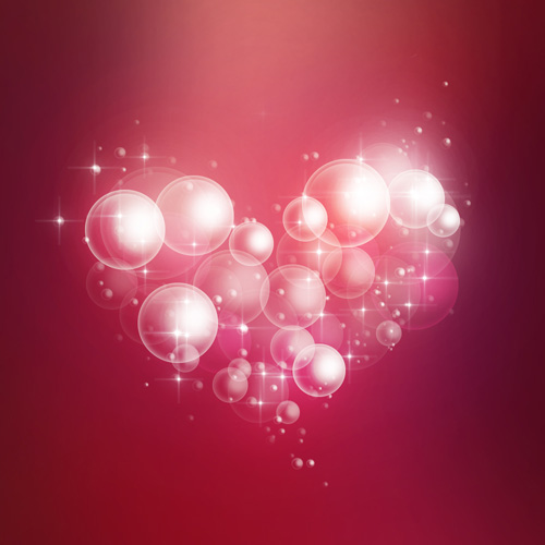 How to Create Soft Romantic Background of the Air Bubbles and Hearts in Adobe Photoshop CS6