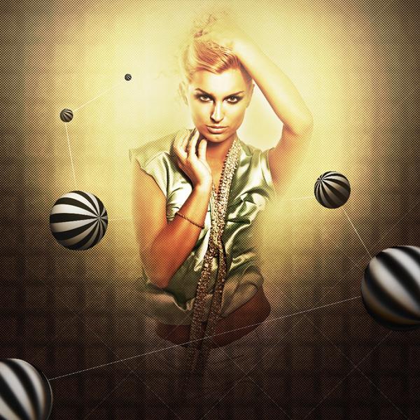 Creative mixed-media composition in Adobe Photoshop CS5 1