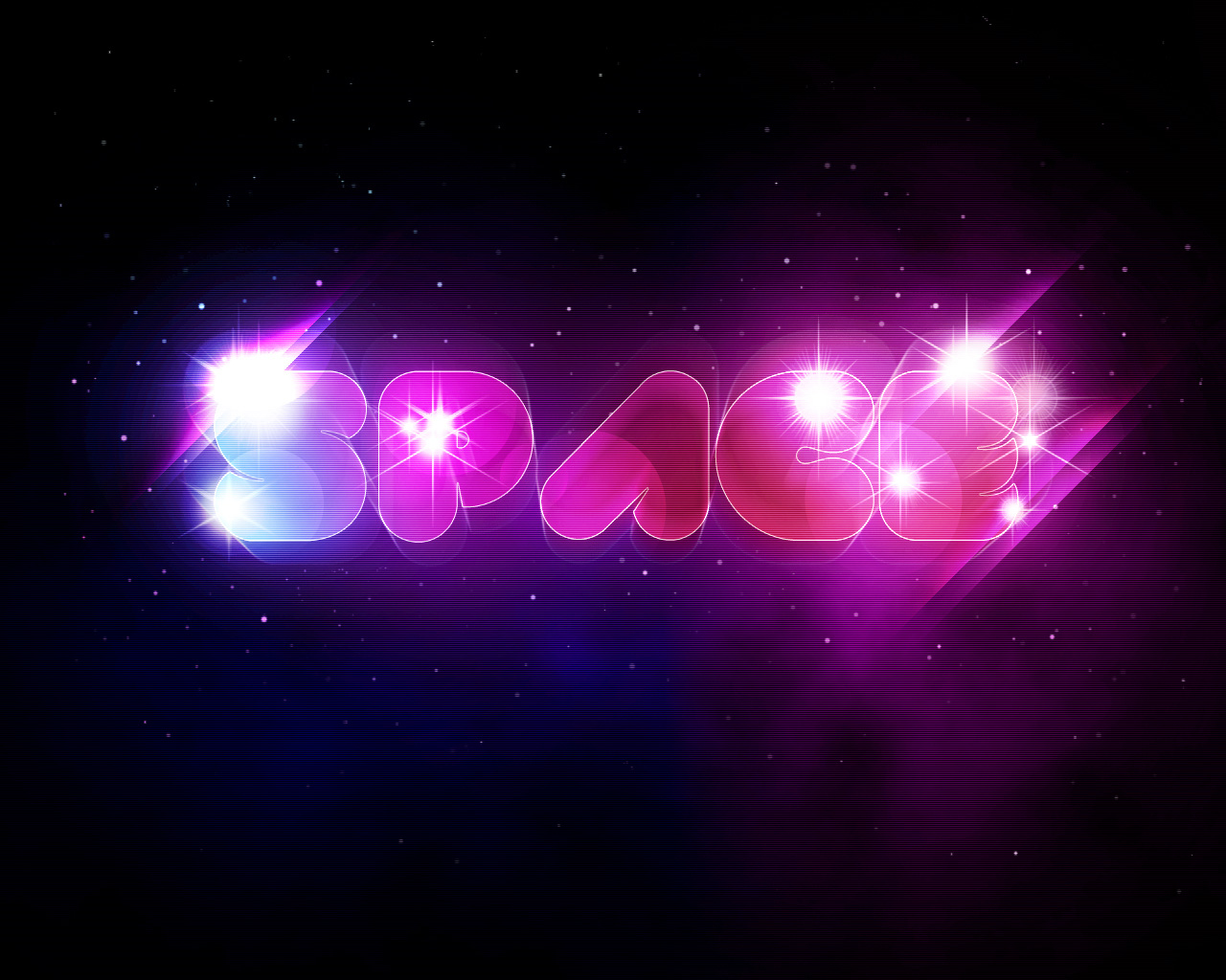 Create a Unique Glowing Text with Space Background in
