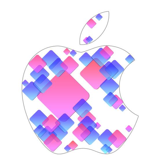Логотип Apple WWDC в Фотошопе