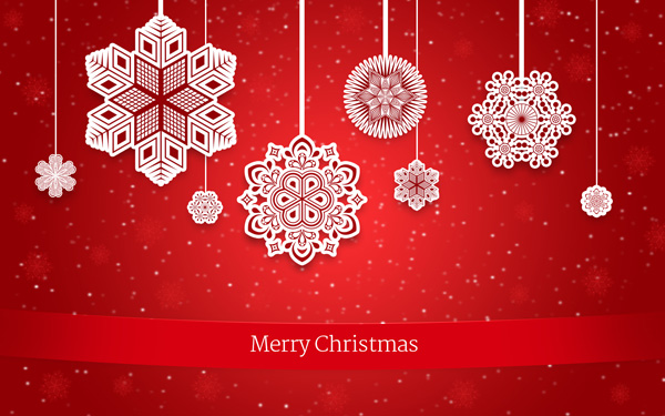 Learn online how to create christmas greeting card with decorative how to create christmas greeting card with decorative snowflakes on red background in adobe photoshop cs6 m4hsunfo