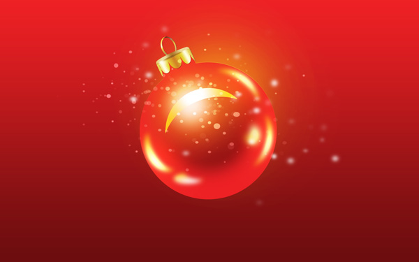 How to create Greeting Card with Christmas ball and Green Ribbon in Adobe Photoshop CS6