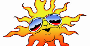 Draw Sun with Cool Sunglasses