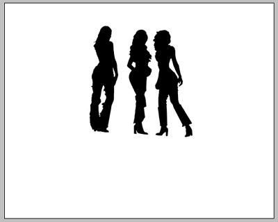 Create Three girls posing in the night Illustration in Photoshop CS
