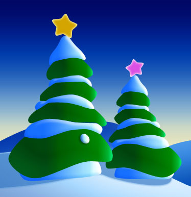 Drawing Christmas Trees in Photoshop CS