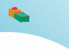Santa's Sleigh Drawing in Photoshop CS