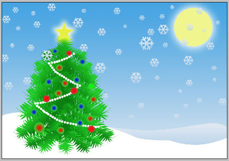 Create Christmas tree in Photoshop CS