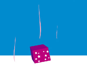 Gifts snowing on Christmas in Photoshop CS
