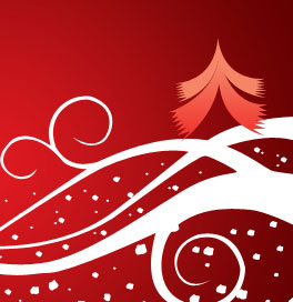 Abstract Christmas wallpaper in Photoshop CS