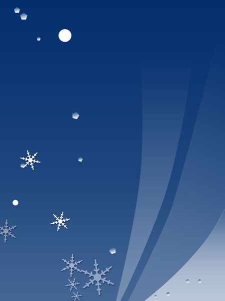Abstract winter design in Photoshop CS