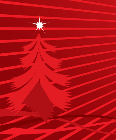 Christmas tree design in Photoshop CS